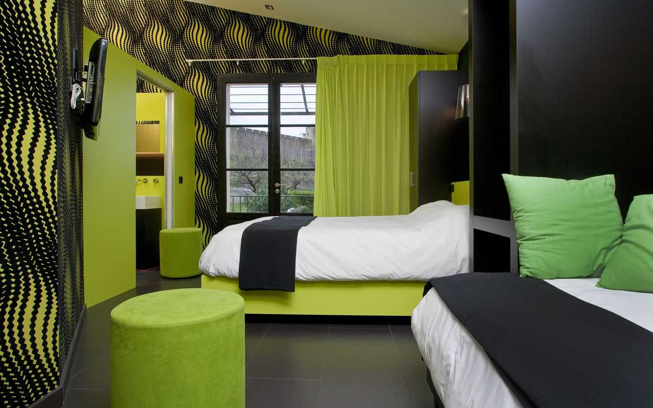 Design and modern room hotel Carcassonne